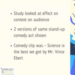 Science engagement through humor: Facts