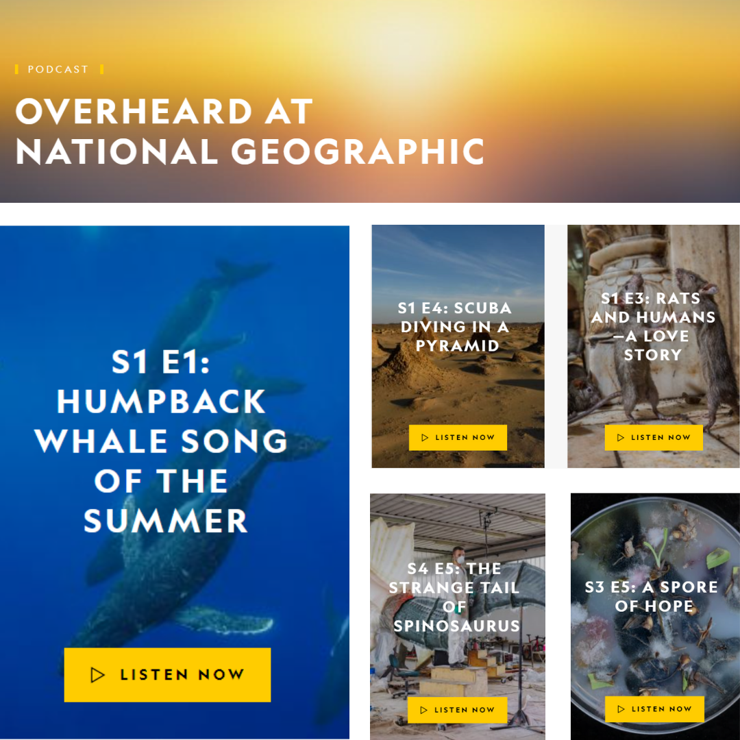 Let's talk podcasts: Overheard at National Geographic