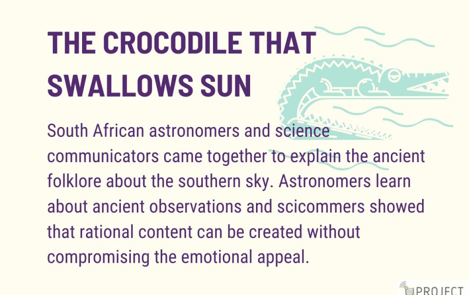 The crocodile that swallows the sun