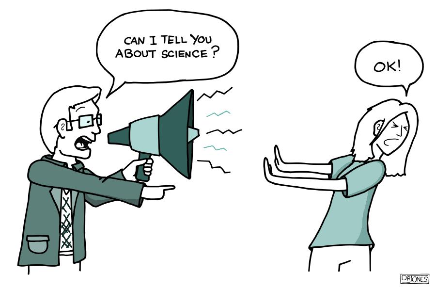 Unprofessional science communication